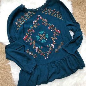 Beautiful Embroidered Boho Blouse
